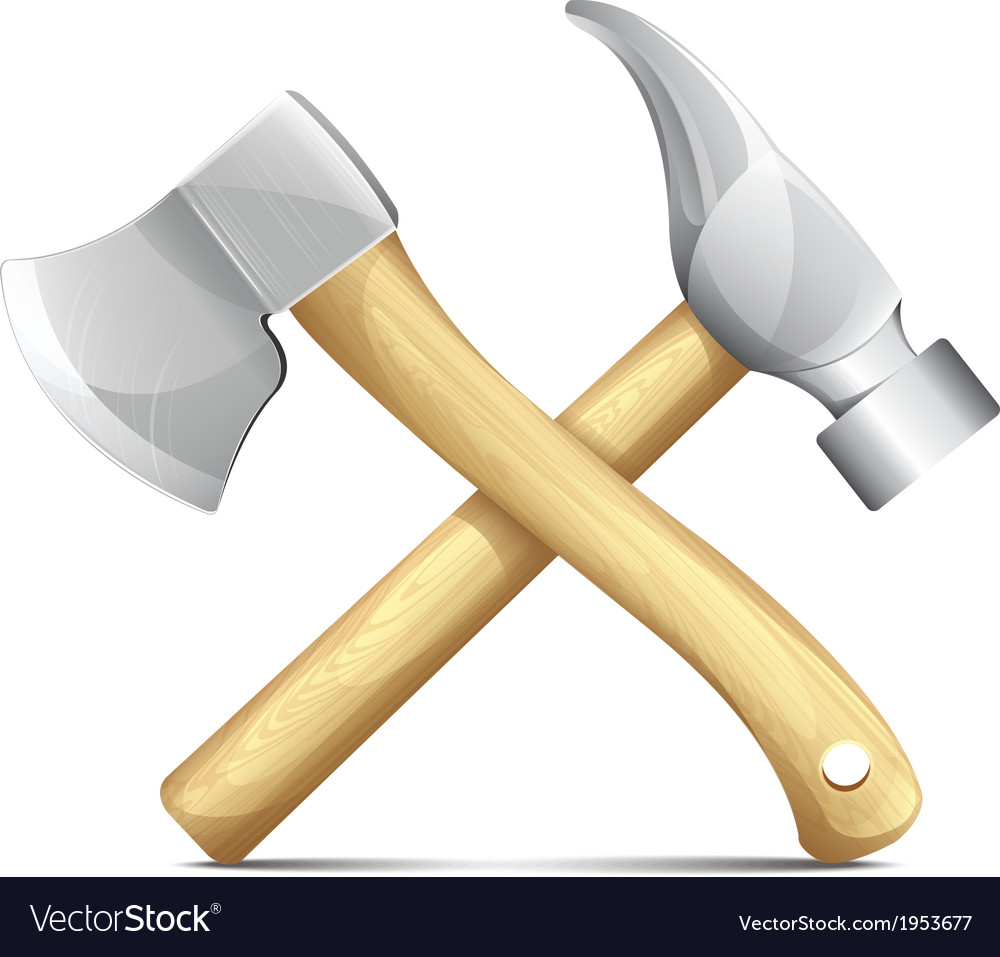 Hammer and ax vector | Price: 1 Credit (USD $1)