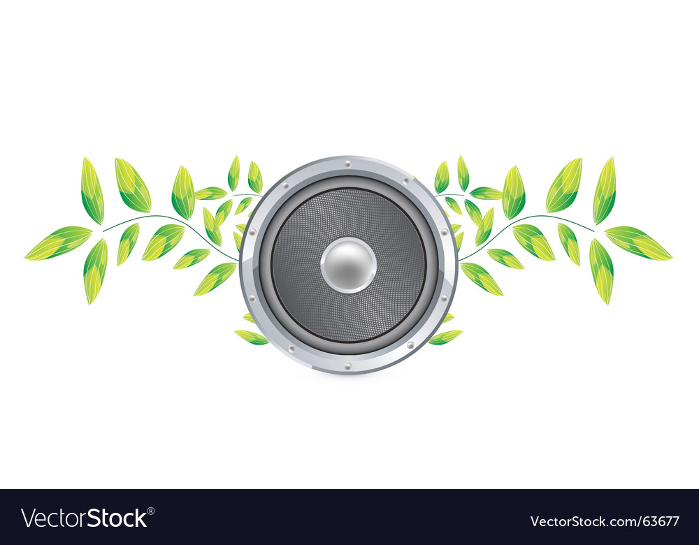 Nature speaker vector | Price: 1 Credit (USD $1)