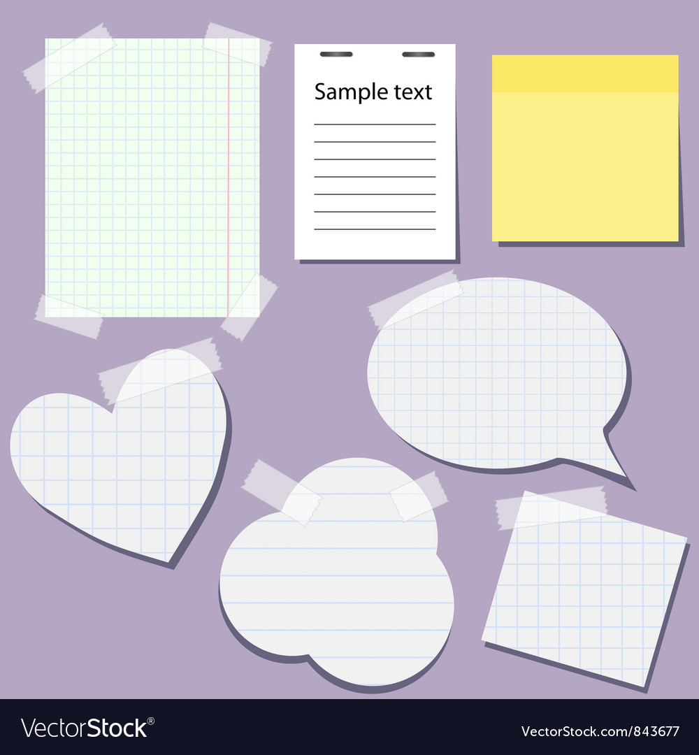 Set of paper stickers with tape vector | Price: 1 Credit (USD $1)