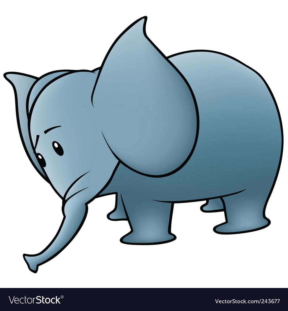 Small elephant vector