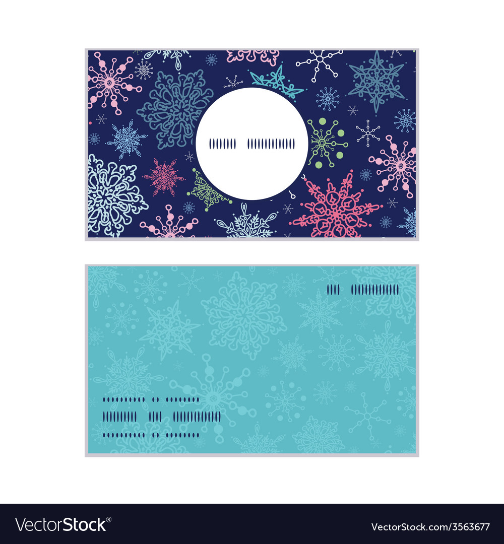 Snowflakes on night sky christmas snowflake vector | Price: 1 Credit (USD $1)