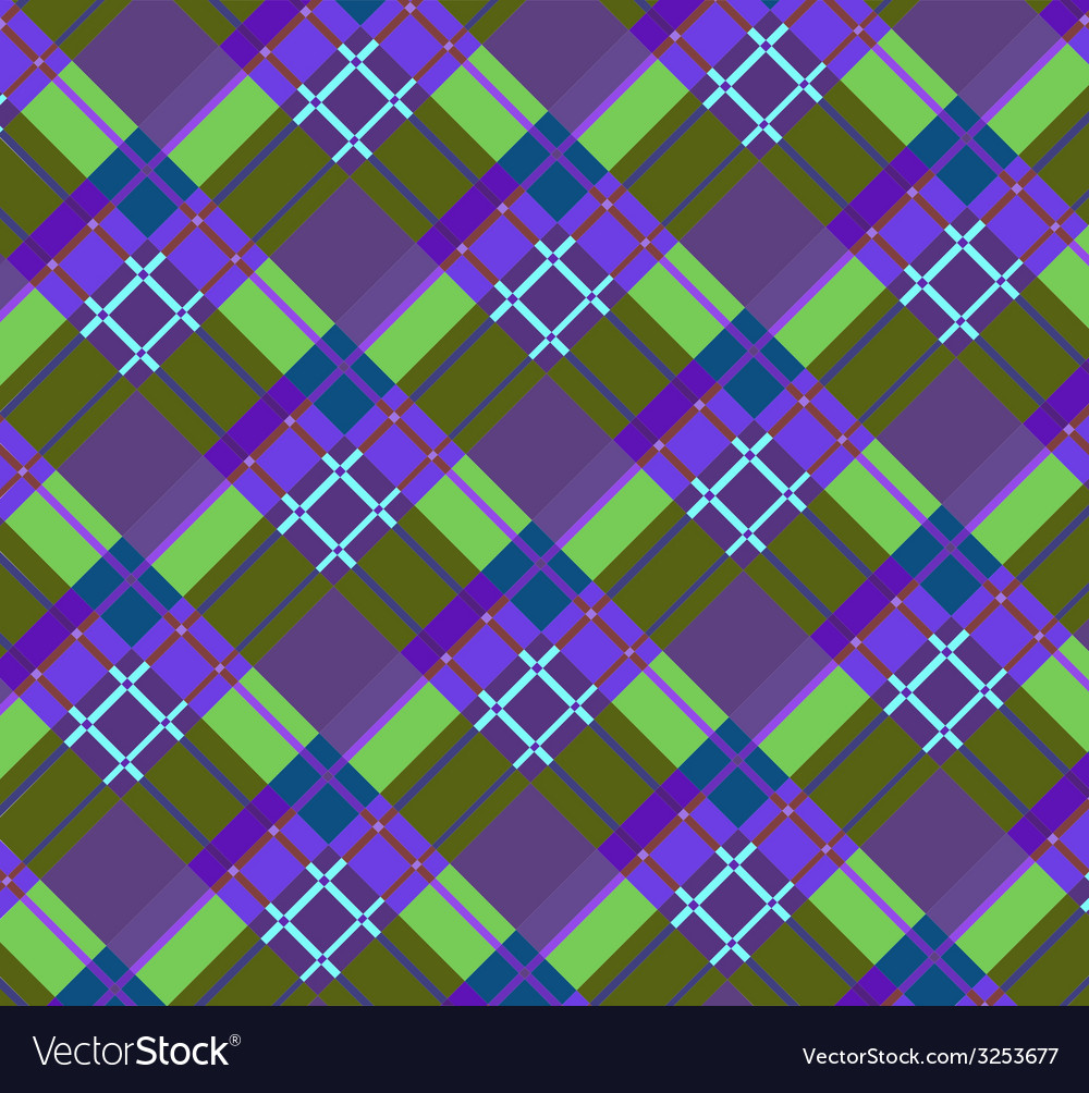 Violet-green plaid fabric vector | Price: 1 Credit (USD $1)
