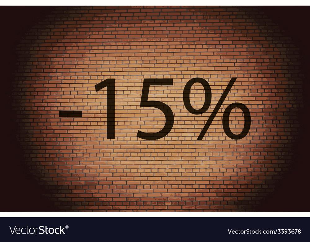 15 percent discount icon symbol flat modern web vector | Price: 1 Credit (USD $1)