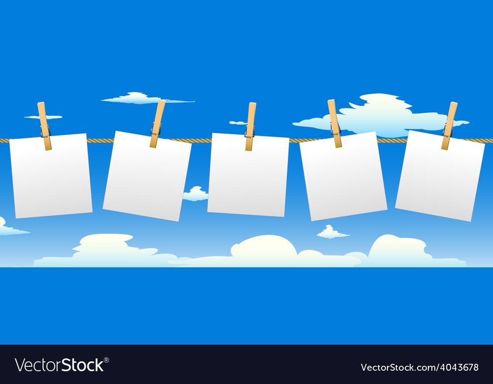 Banner with five paper notes vector