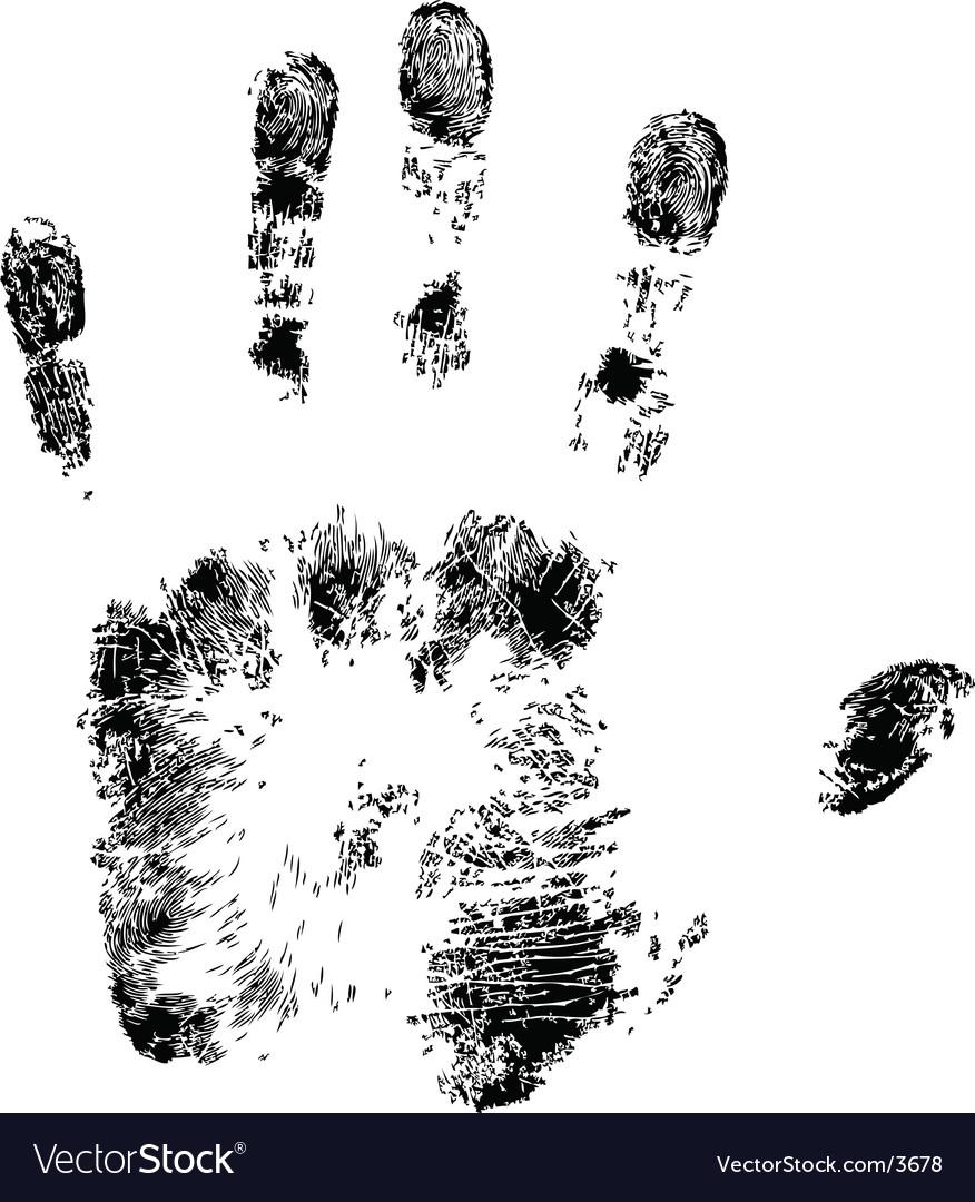 Hand print vector | Price: 1 Credit (USD $1)
