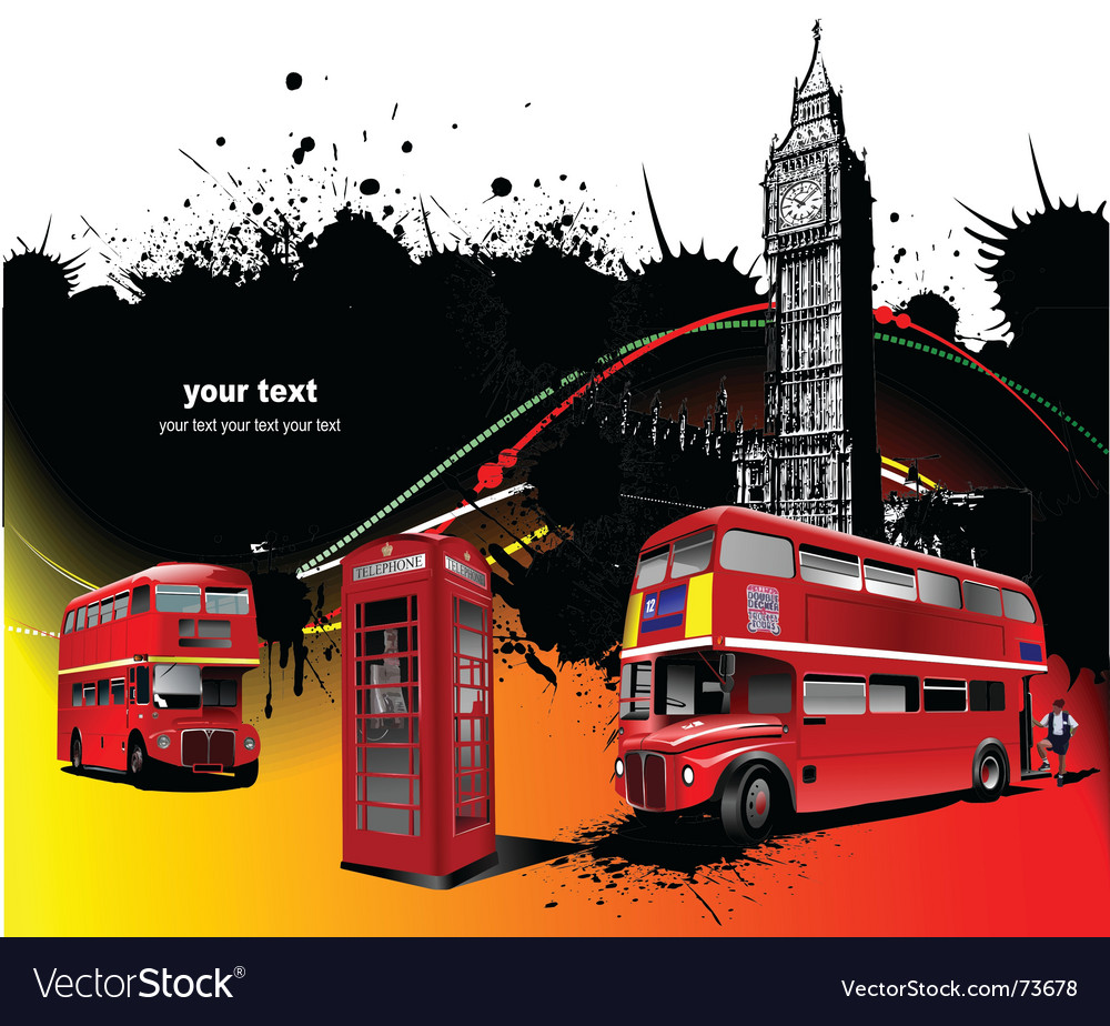 London bus vector | Price: 1 Credit (USD $1)