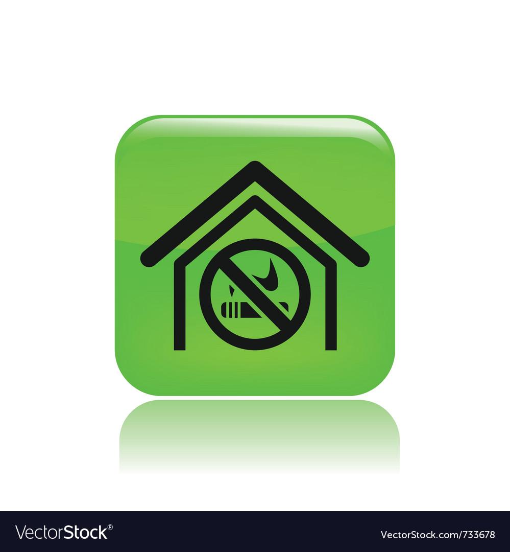 No smoking zone icon vector | Price: 1 Credit (USD $1)