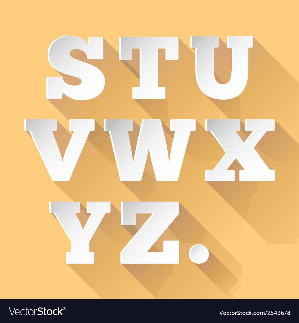 Paper alphabet sz vector