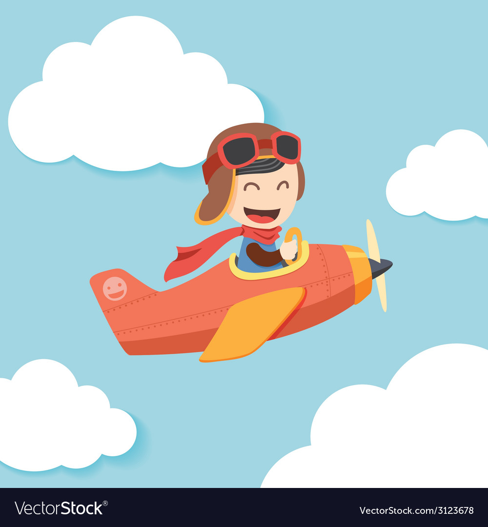 Pilot boy vector | Price: 1 Credit (USD $1)