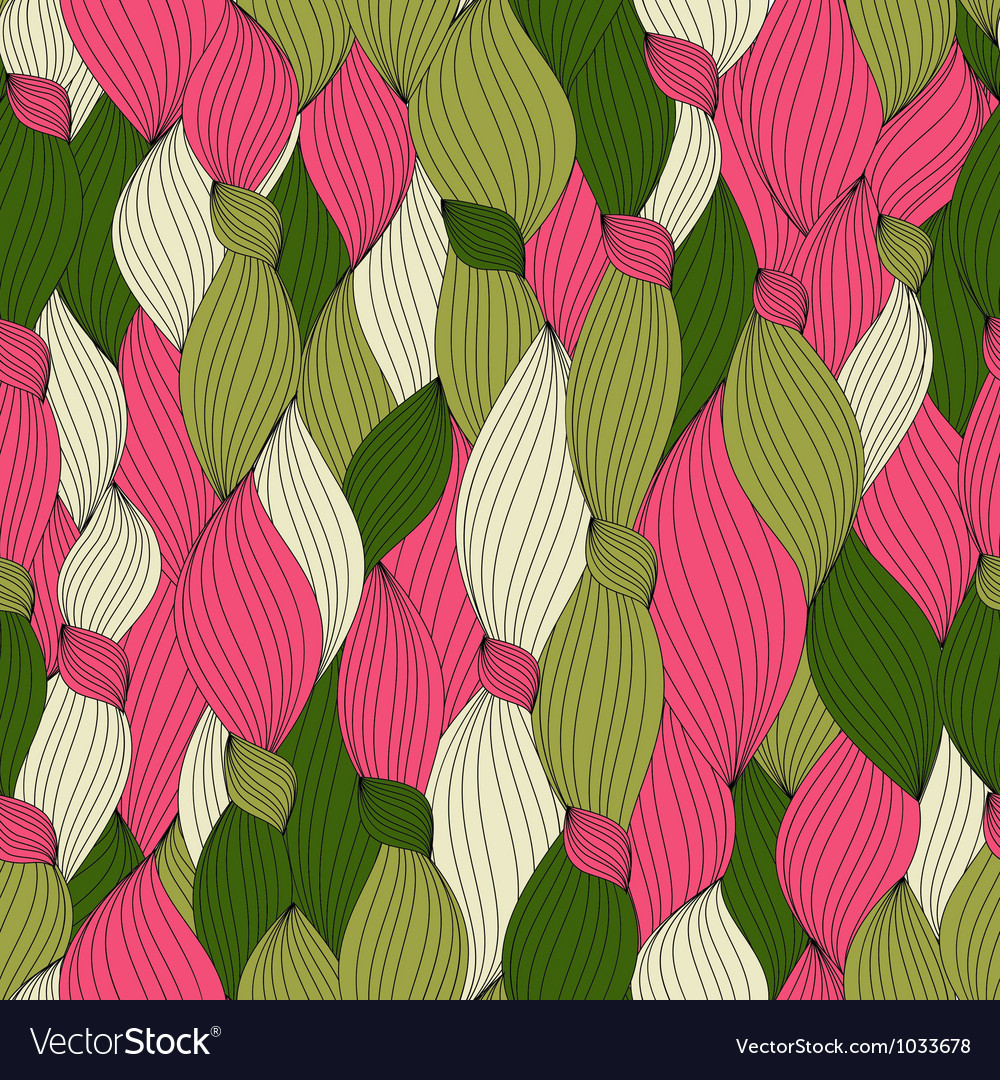 Seamless pattern from color hair and lines vector | Price: 1 Credit (USD $1)