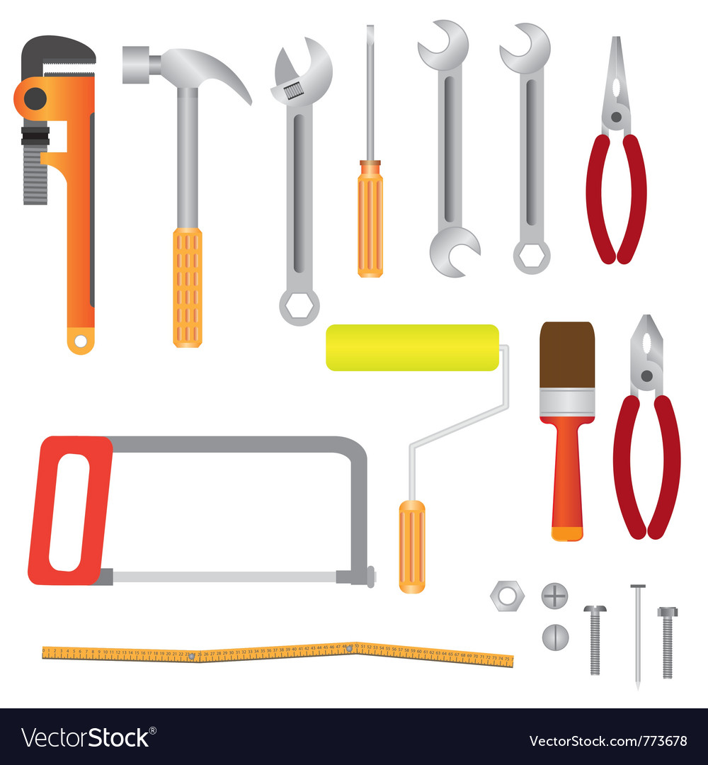 Set of instruments for renovation vector | Price: 1 Credit (USD $1)