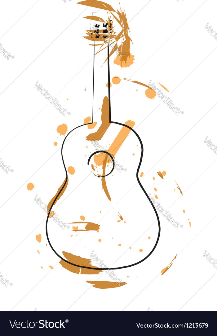 Abstract guitar vector   Price: 1 Credit (USD $1)