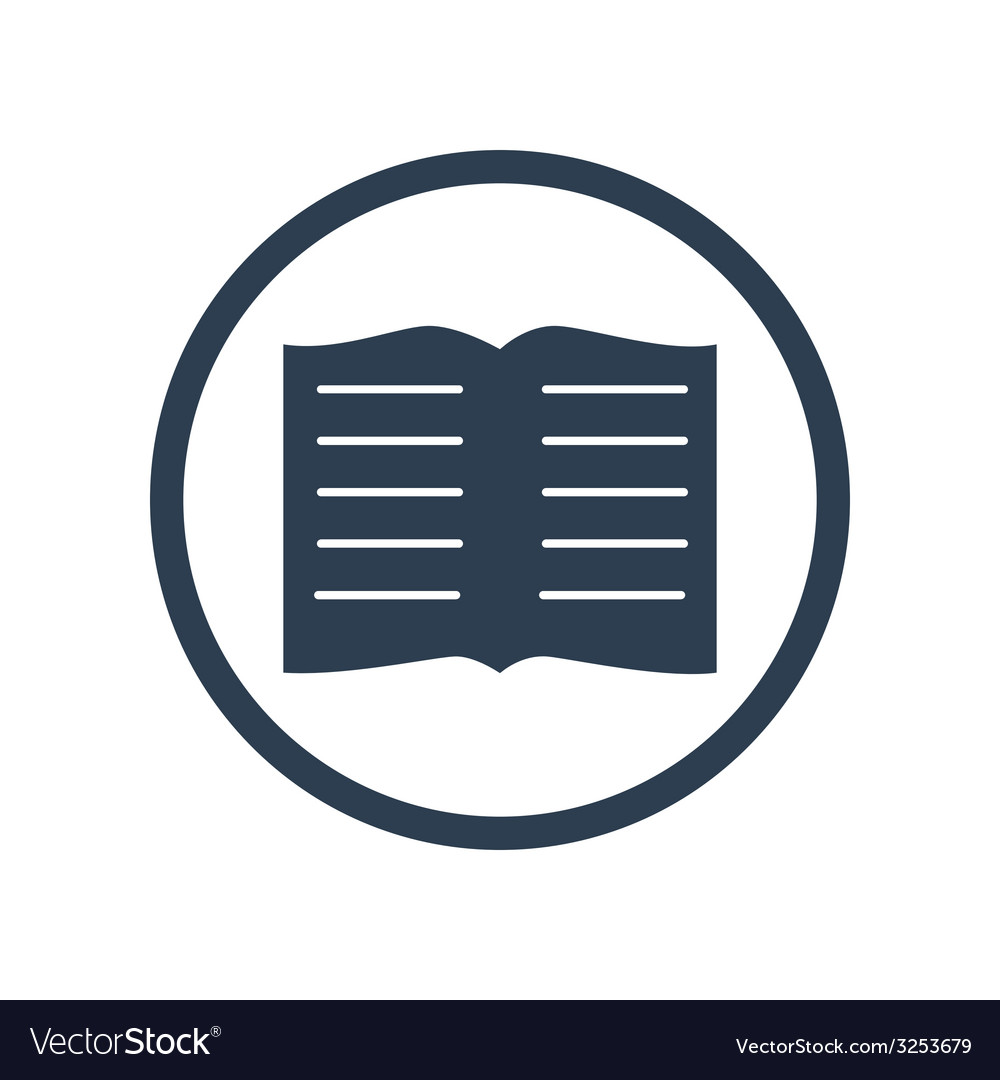 Book flat icon vector | Price: 1 Credit (USD $1)