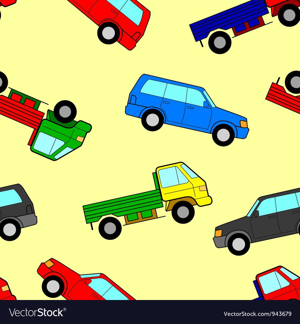 Car seamless wallpaper vector | Price: 1 Credit (USD $1)