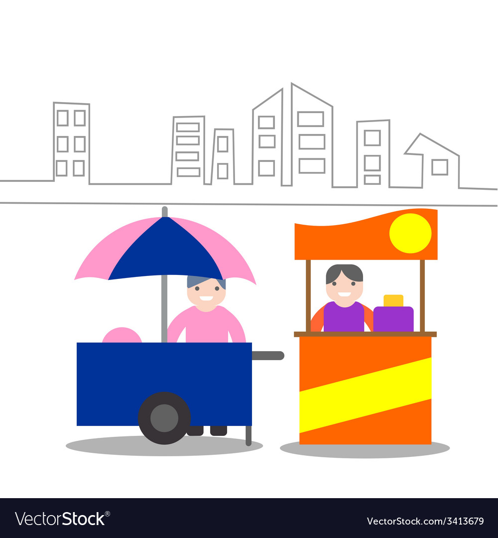 Food kiosk vector | Price: 1 Credit (USD $1)