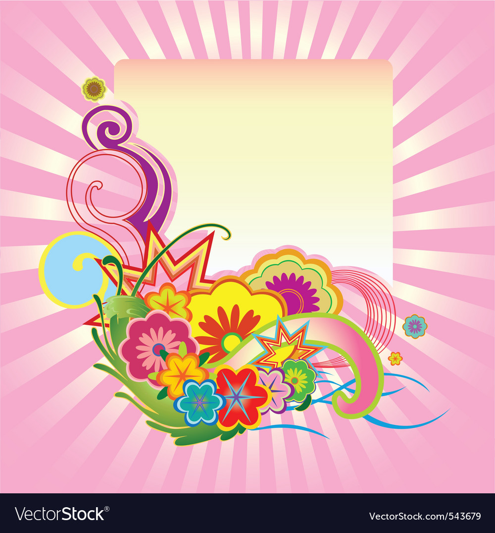 Funky flower design vector | Price: 1 Credit (USD $1)
