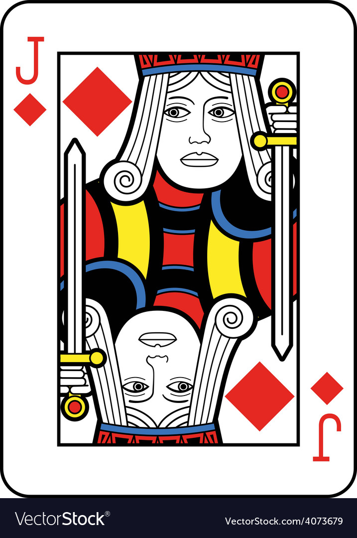 Jack of diamonds vector | Price: 1 Credit (USD $1)