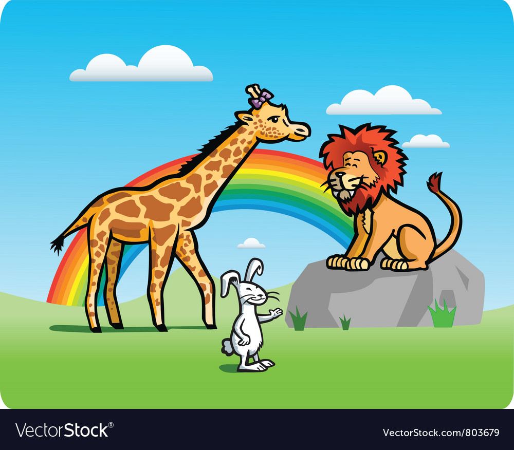 Kid animals vector | Price: 1 Credit (USD $1)
