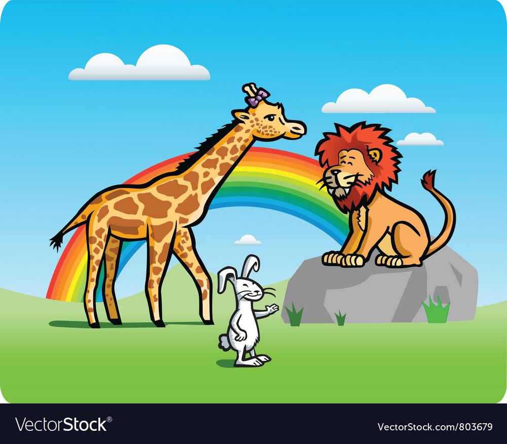 Kid animals vector | Price: 1 Credit (USD $1)