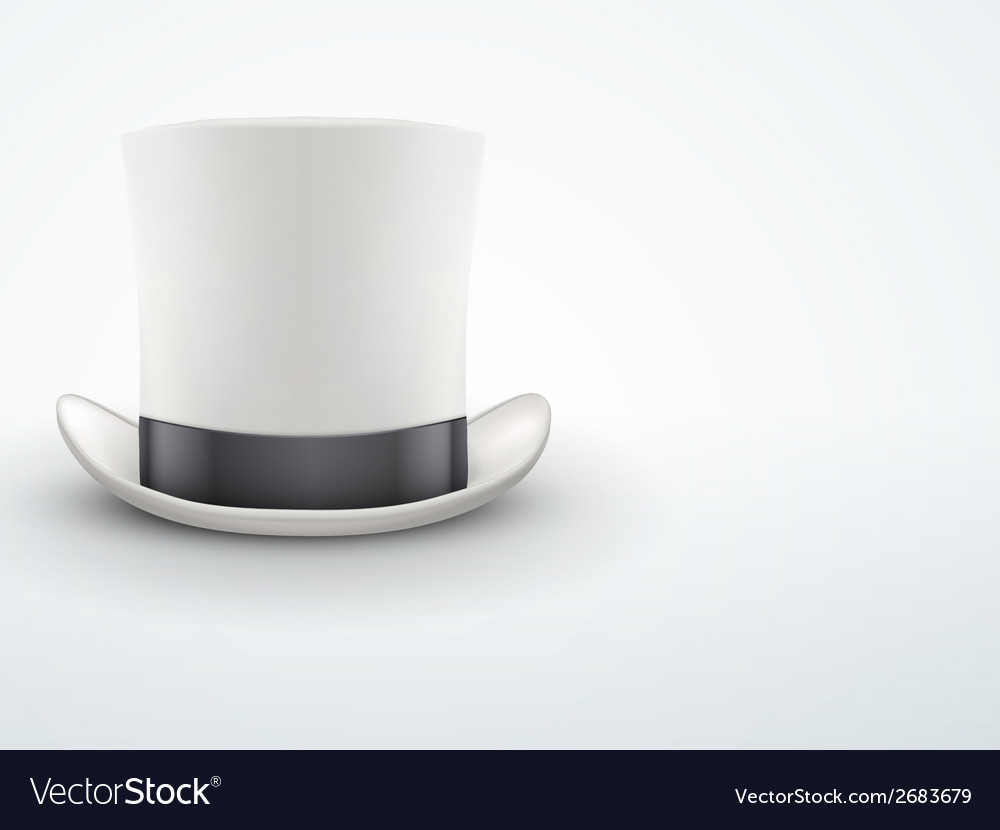 Light background white gentleman hat cylinder with vector | Price: 1 Credit (USD $1)