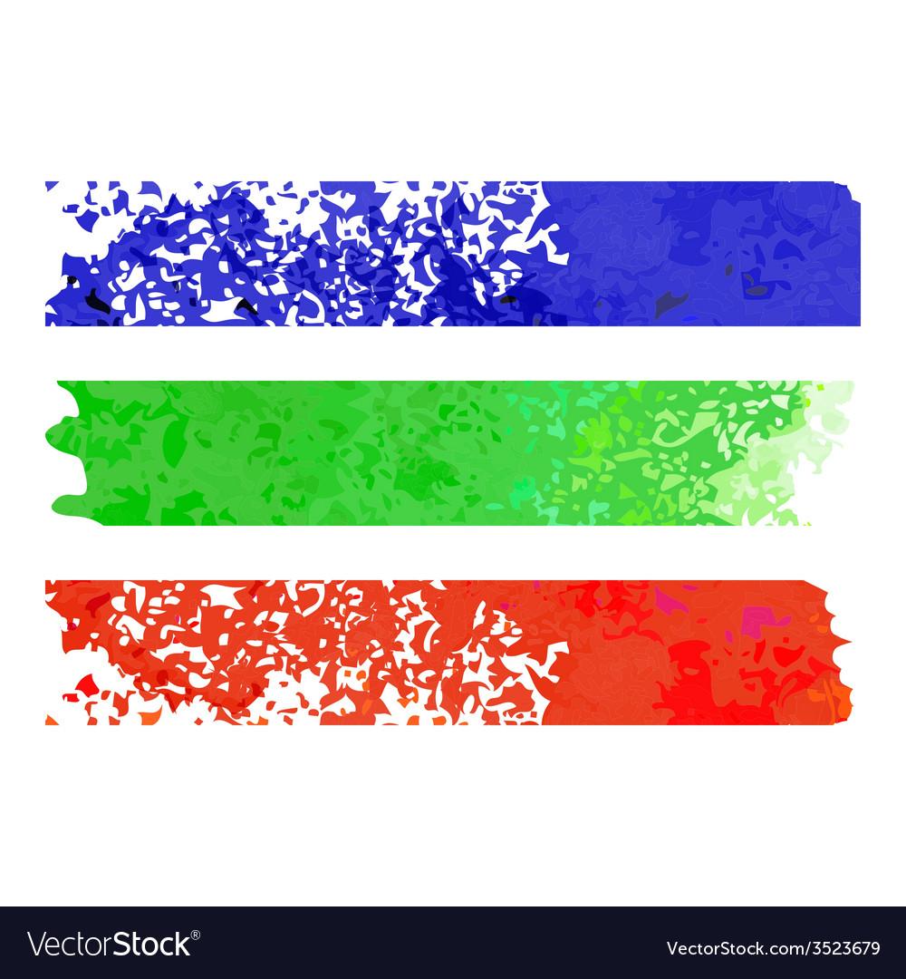 Rainbow paper stripe banners vector   Price: 1 Credit (USD $1)