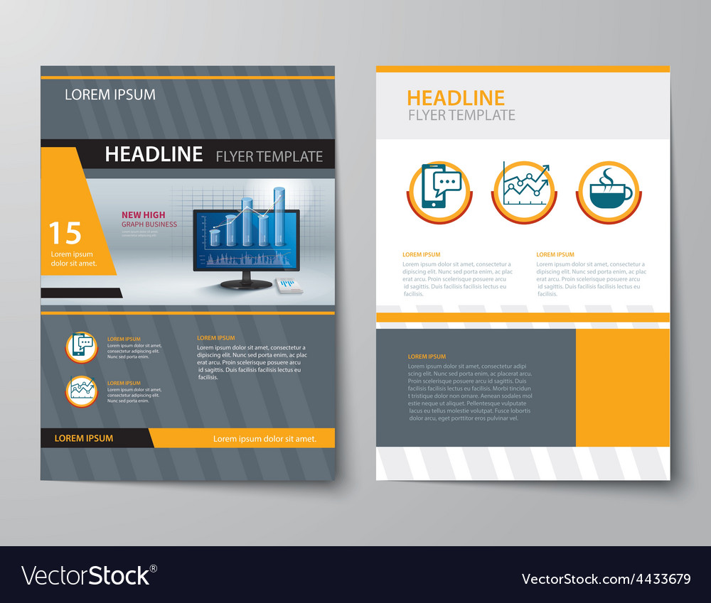 Set of business magazine cover flyer brochure vector | Price: 1 Credit (USD $1)