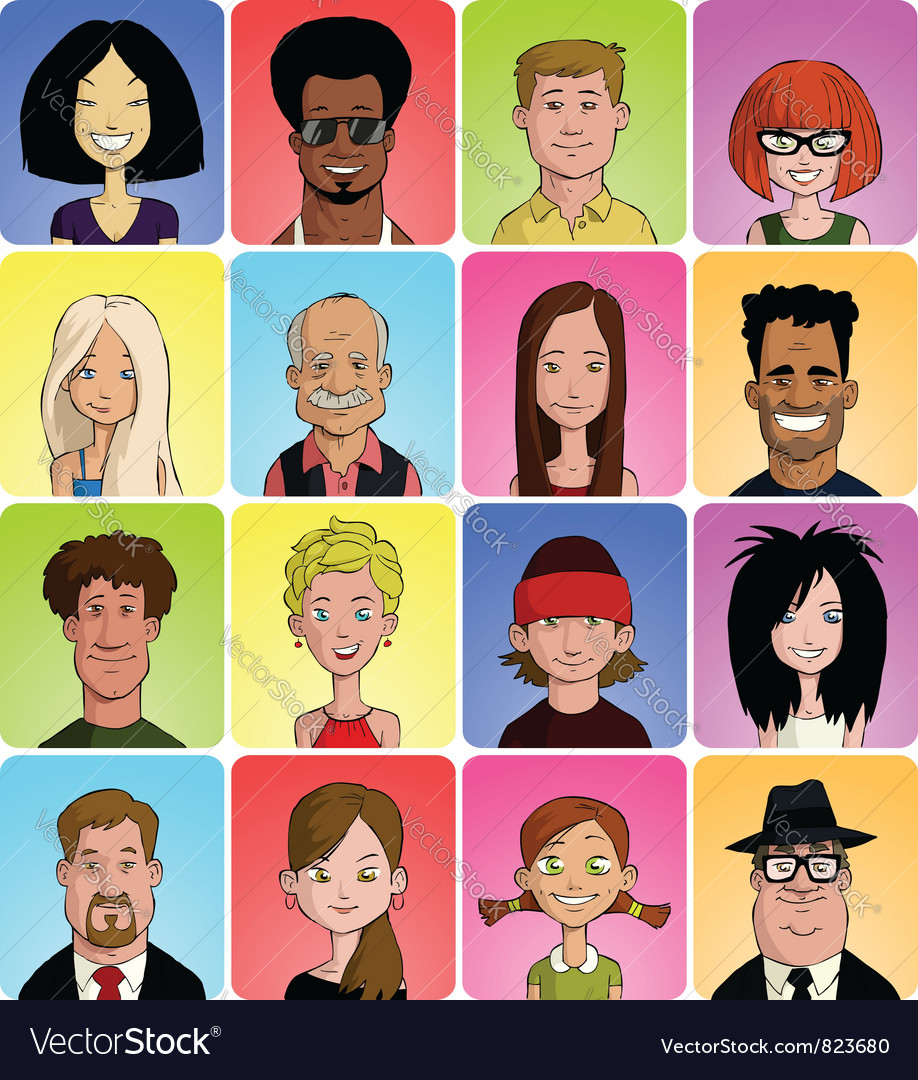 Avatars vector | Price: 3 Credit (USD $3)
