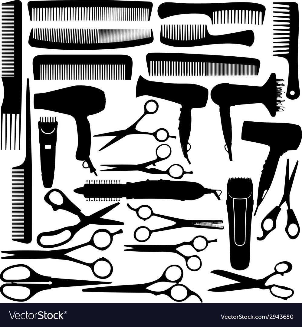 Barber hairdressing salon equipment vector | Price: 1 Credit (USD $1)
