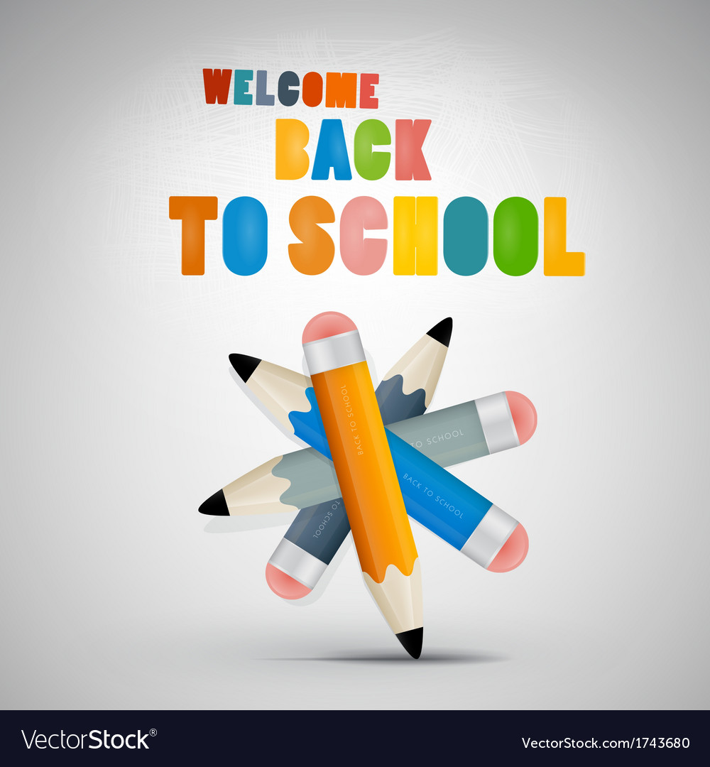 Colorful back to school theme vector | Price: 1 Credit (USD $1)