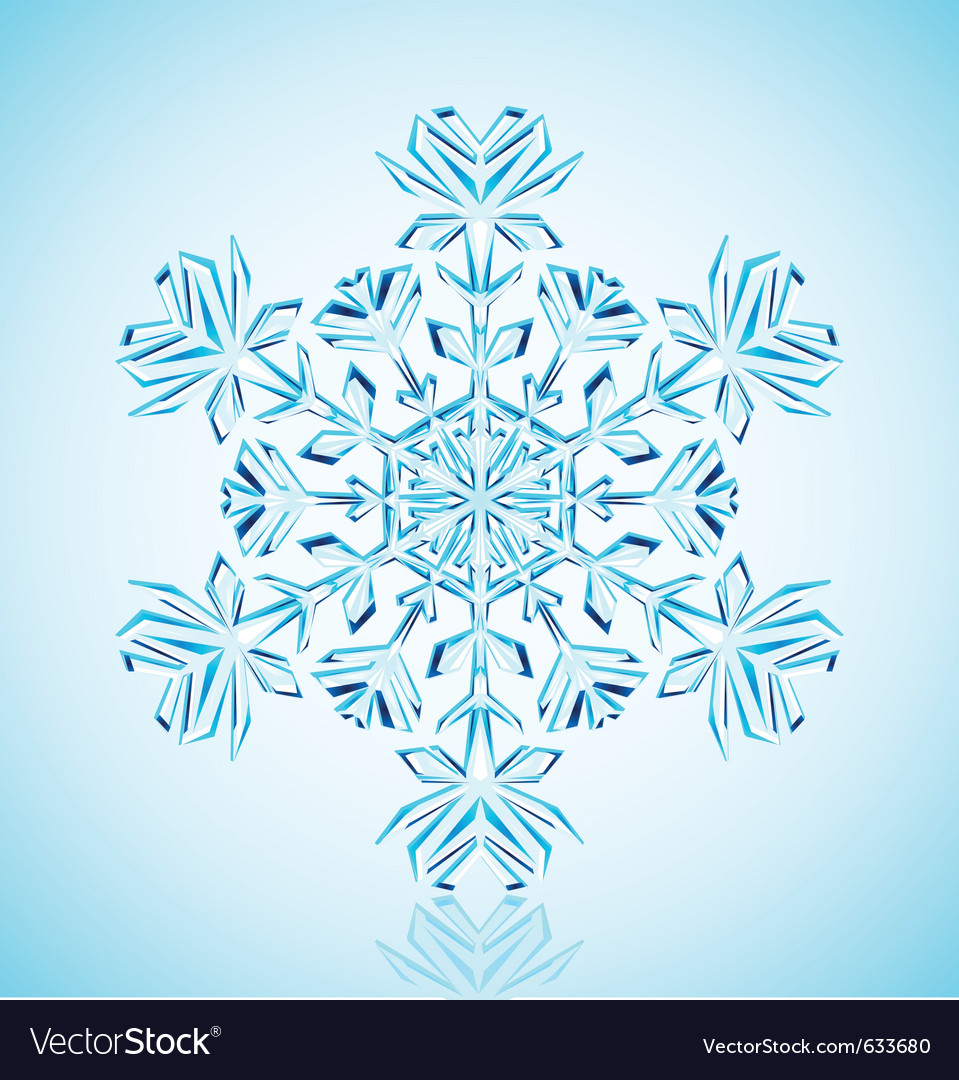 Crystal snowflake vector | Price: 1 Credit (USD $1)