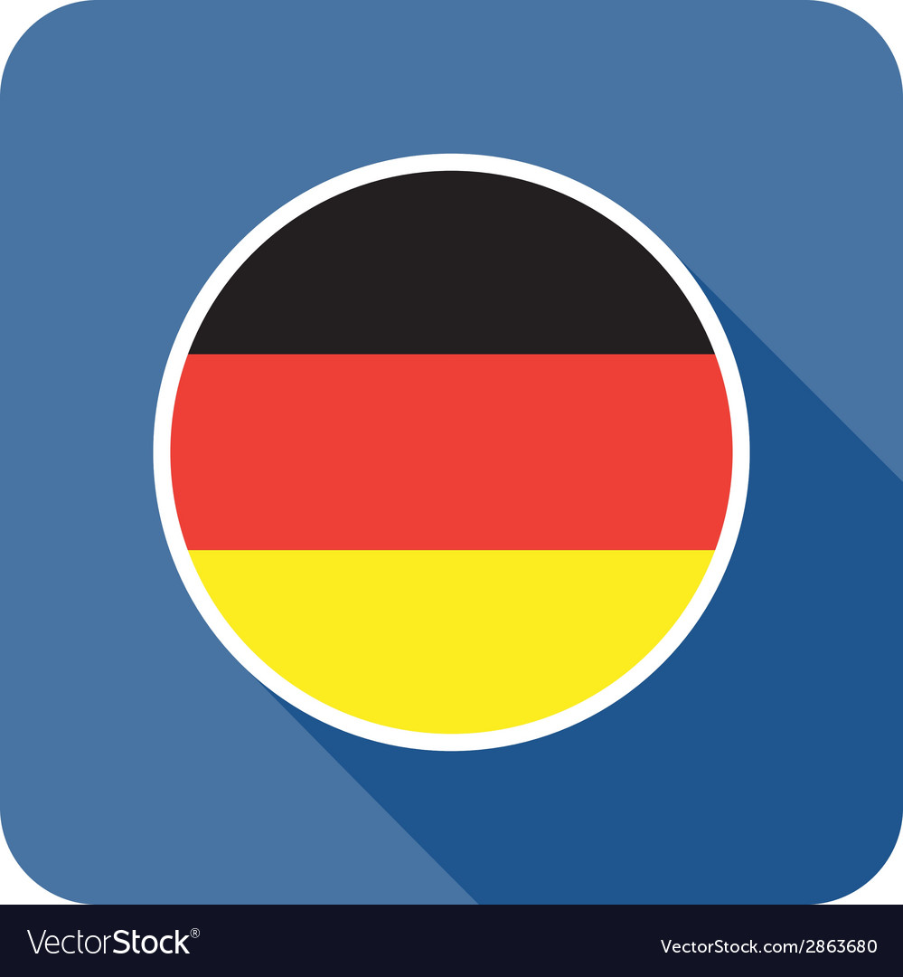 Flat germany icon vector | Price: 1 Credit (USD $1)
