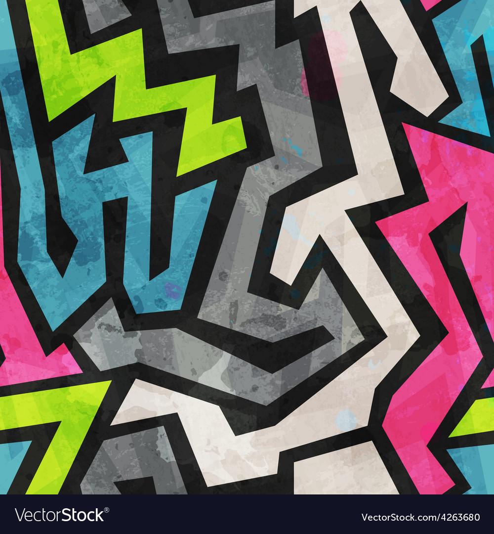Grunge graffiti seamless pattern vector   Price: 1 Credit (USD $1)