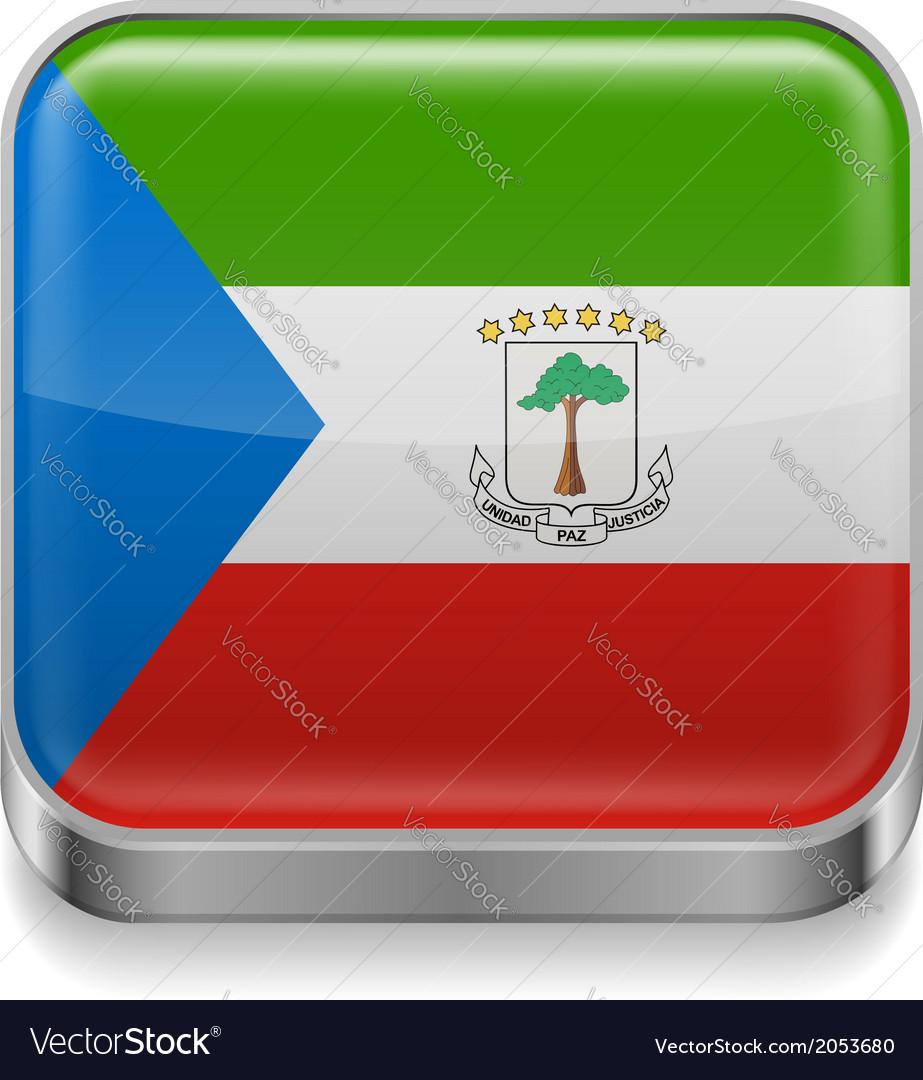 Metal icon of equatorial guinea vector   Price: 1 Credit (USD $1)