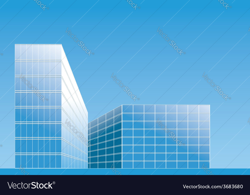 Modern buildings in city - background vector | Price: 1 Credit (USD $1)