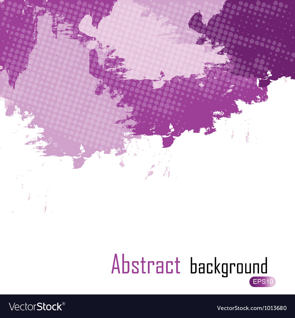 Purple abstract paint splashes  background w vector | Price: 1 Credit (USD $1)