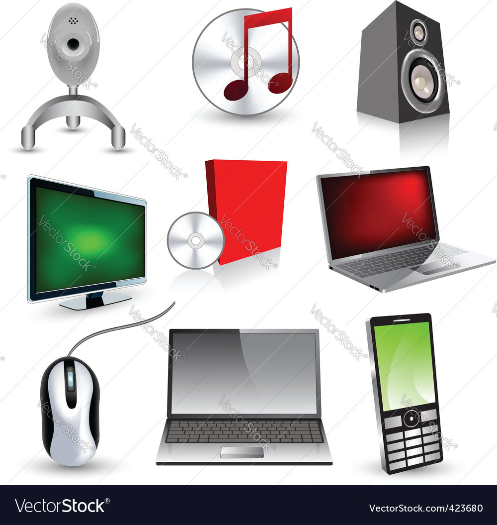 Set of technology icons vector | Price: 1 Credit (USD $1)