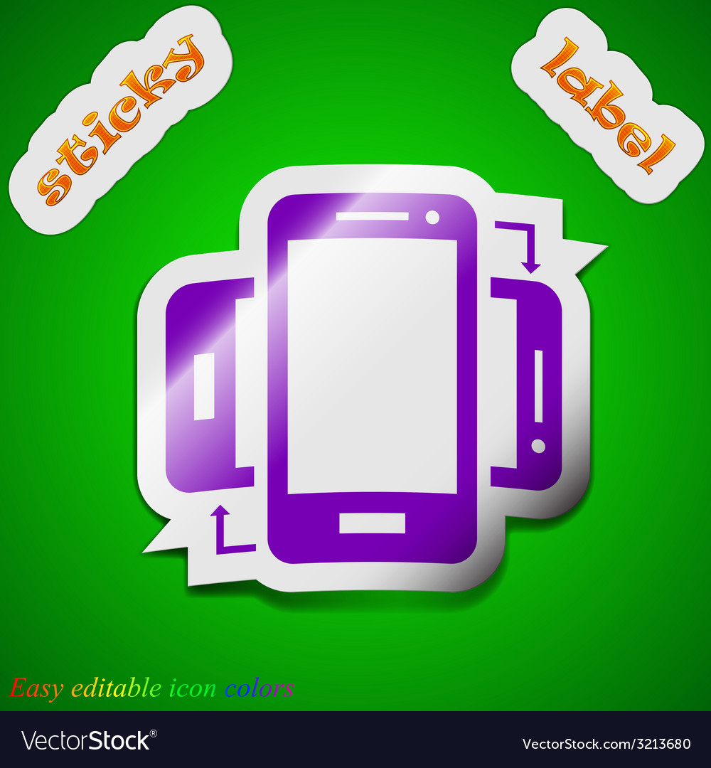 Synchronization icon sign symbol chic colored vector   Price: 1 Credit (USD $1)