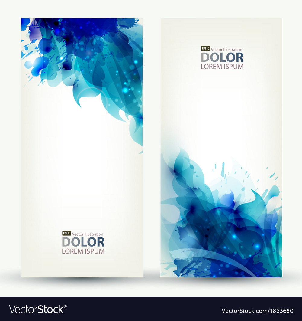 Two banners vector | Price: 1 Credit (USD $1)