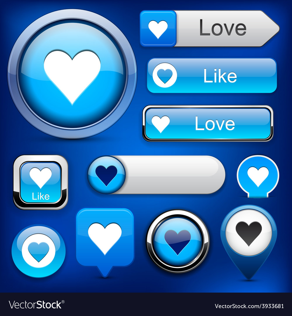 Like high-detailed modern buttons vector | Price: 1 Credit (USD $1)