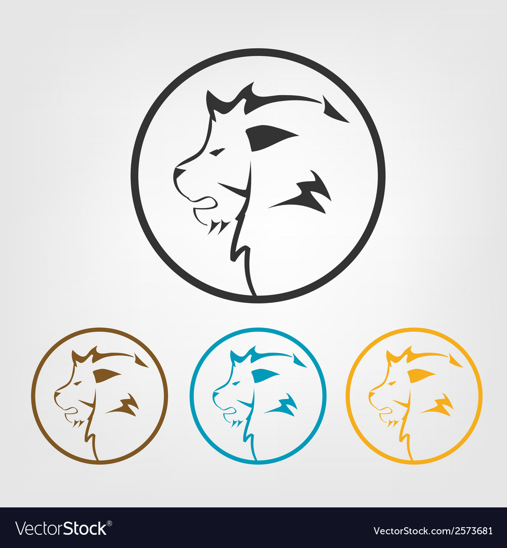 Lion icons vector | Price: 1 Credit (USD $1)