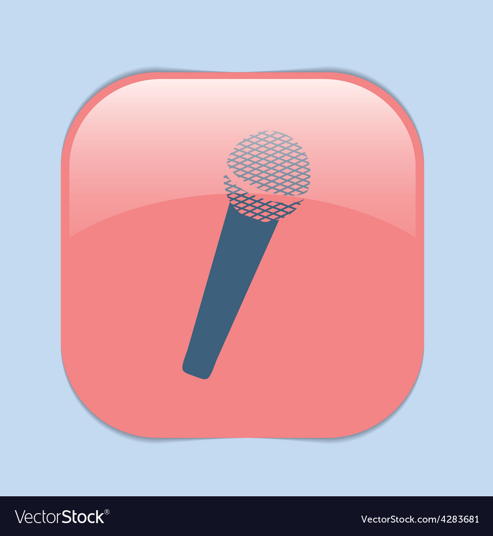 Microphone musical symbol singing pop sign vector | Price: 1 Credit (USD $1)