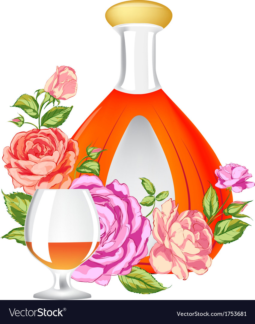 Rose and cognac abstraction vector | Price: 1 Credit (USD $1)