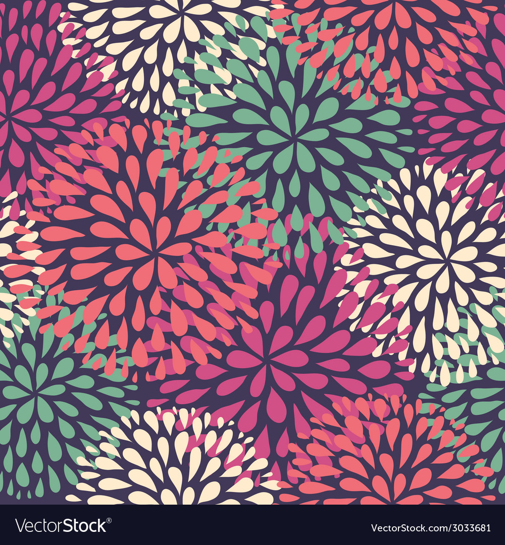 Seamless pattern modern floral texture stylish vector | Price: 1 Credit (USD $1)