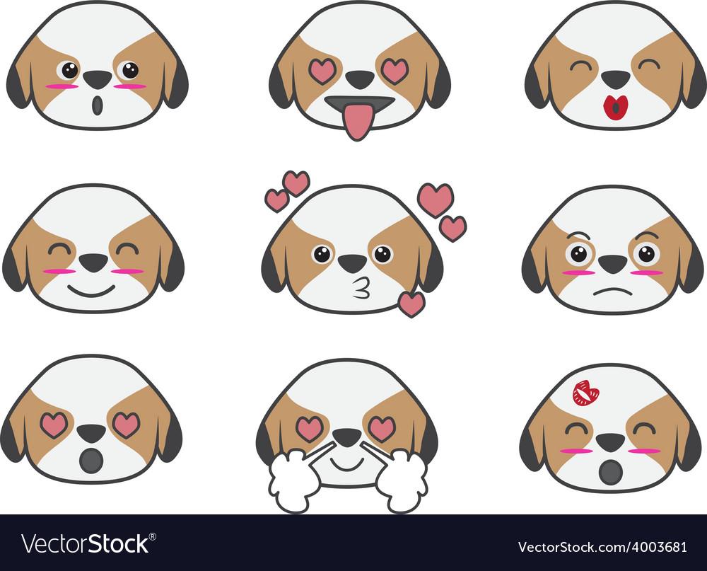 Tsi zhu cartoon emotion vector | Price: 1 Credit (USD $1)