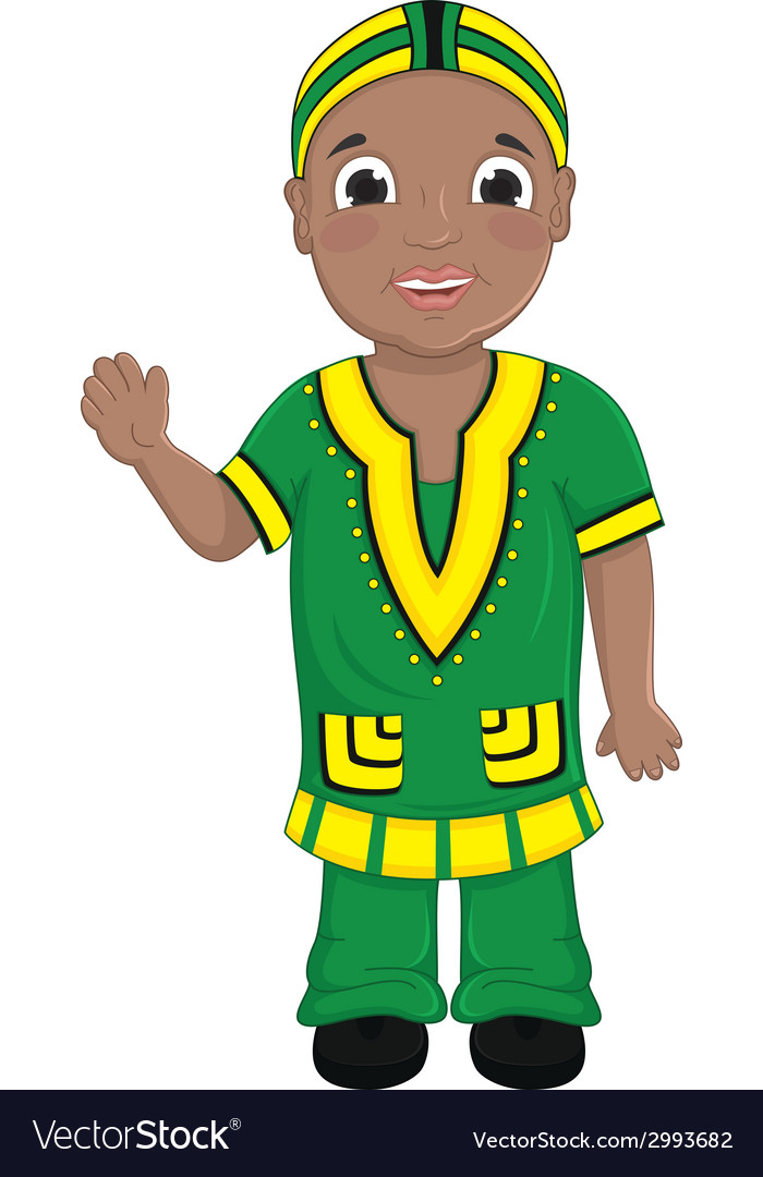 African boy vector | Price: 1 Credit (USD $1)