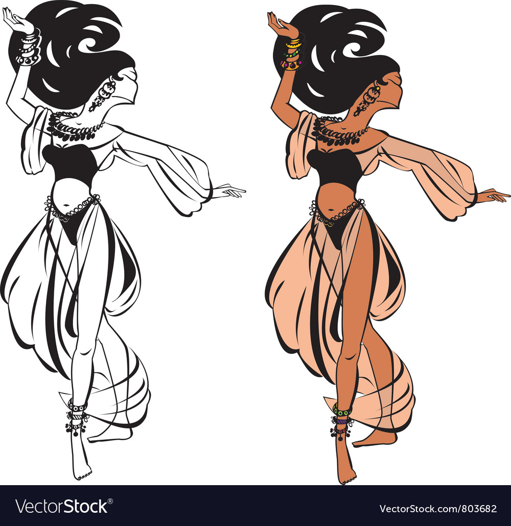 Arabic belly dance vector | Price: 3 Credit (USD $3)