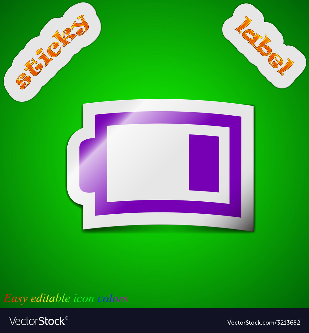 Battery low level icon sign symbol chic colored vector | Price: 1 Credit (USD $1)