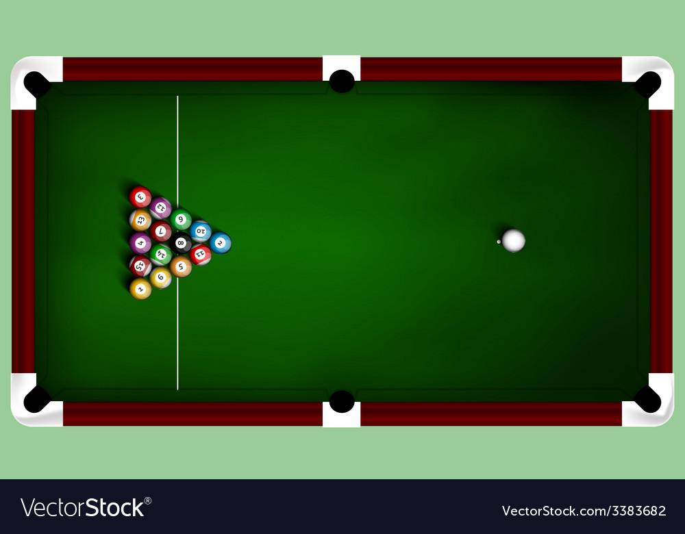 Billiard balls on table vector | Price: 1 Credit (USD $1)