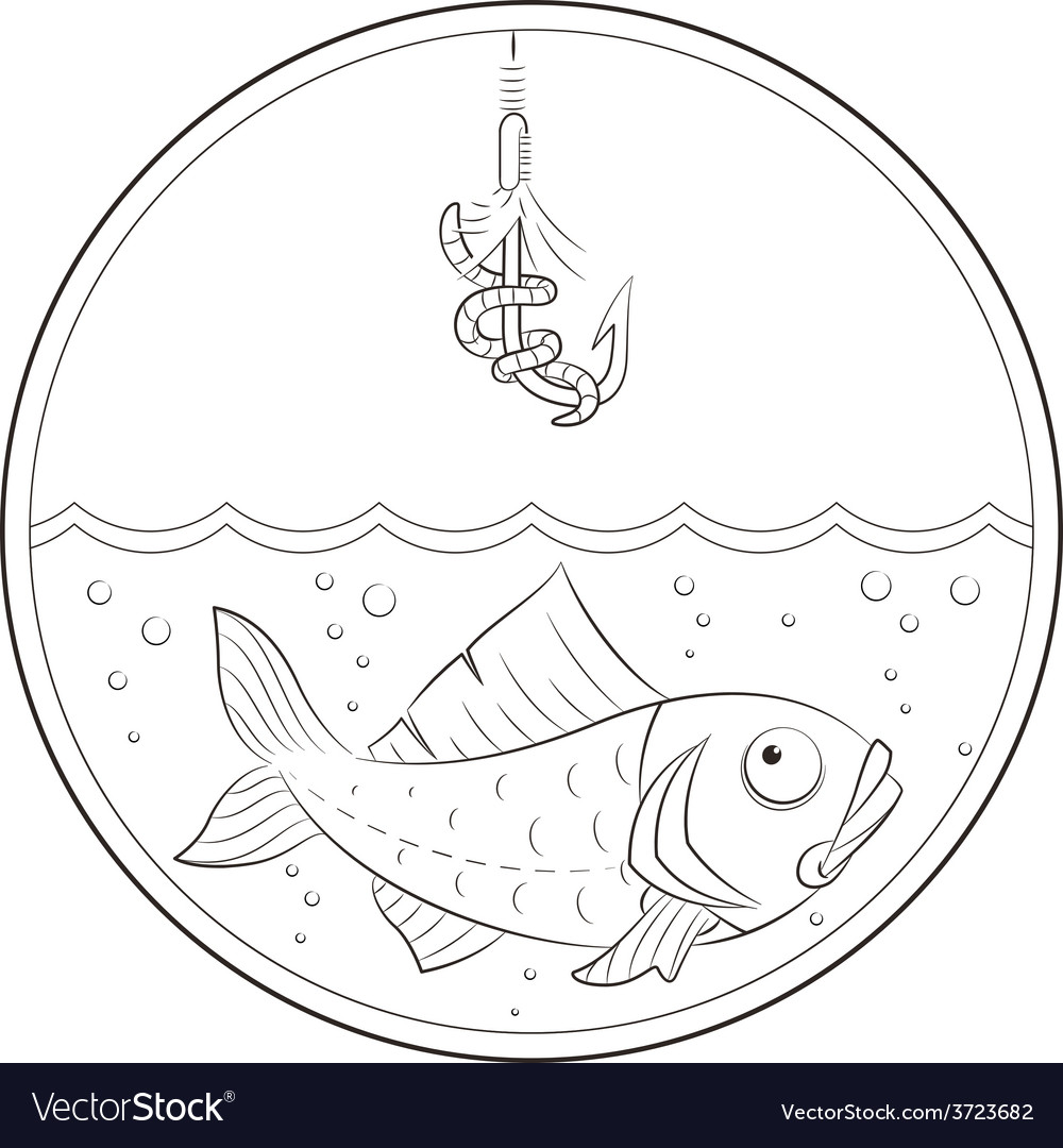 Fishing fish in water and vector | Price: 1 Credit (USD $1)
