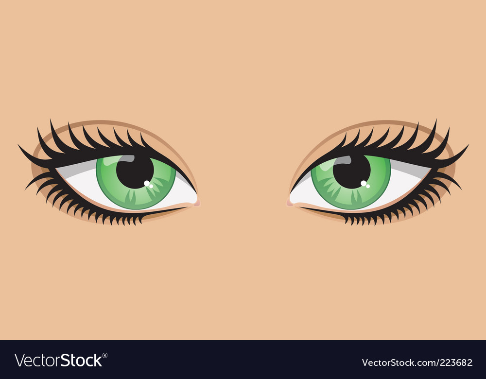 Green eyes vector | Price: 1 Credit (USD $1)